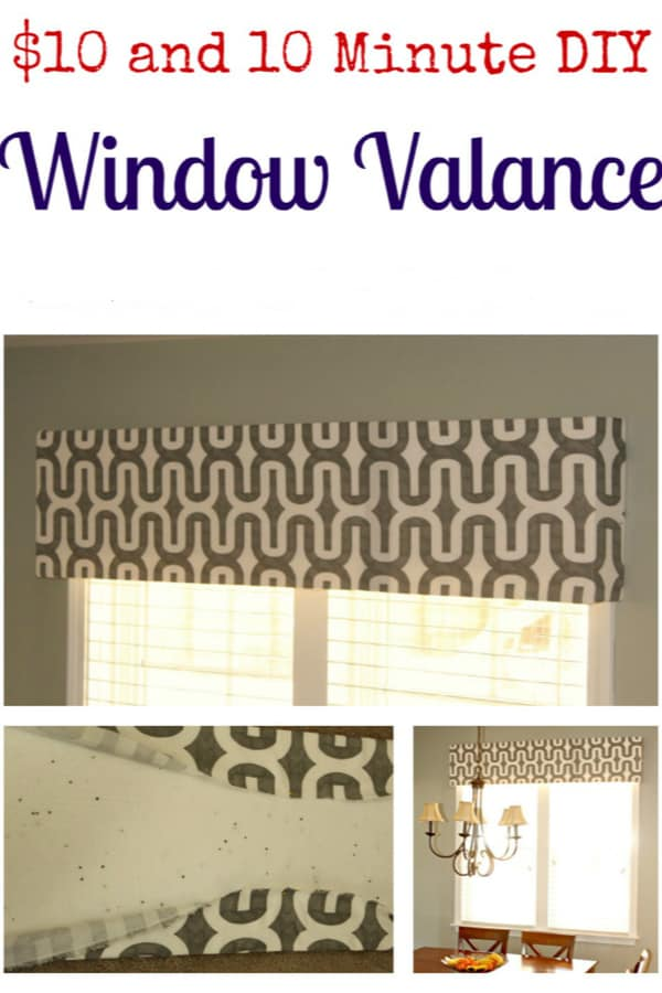 $10 and 10-minute DIY window valance