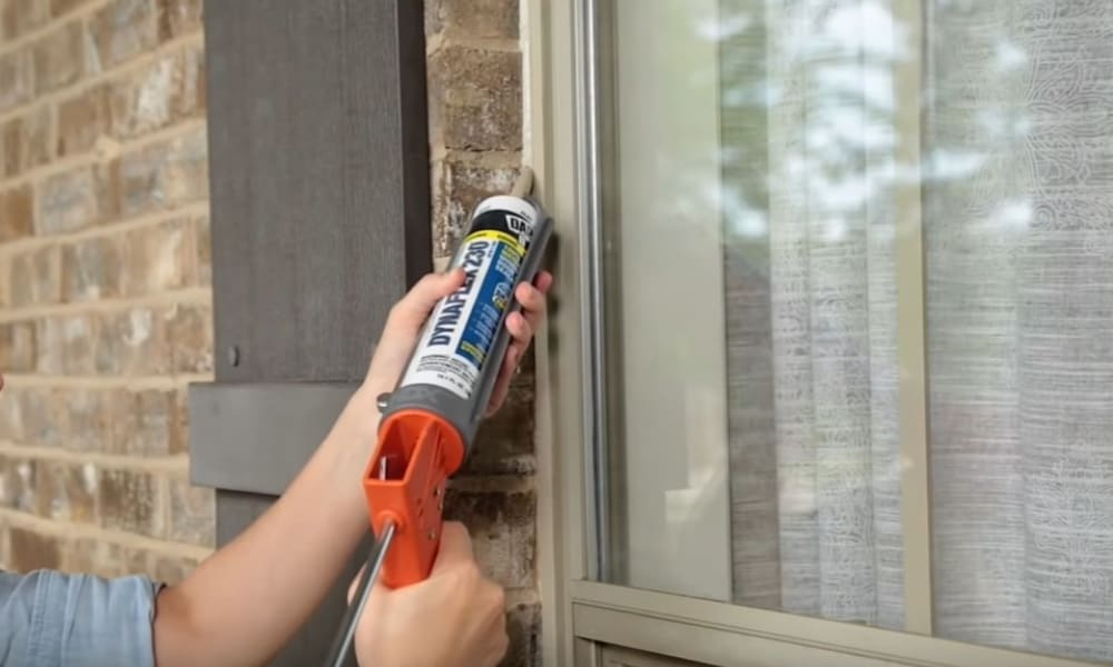 Apply the caulk to the window