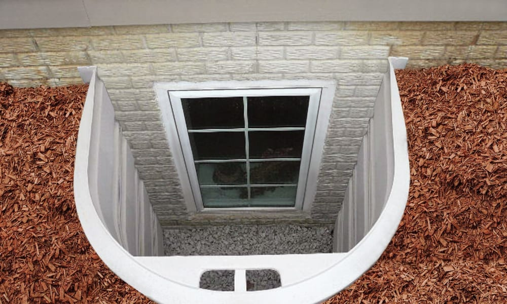 Basement egress windows with a well