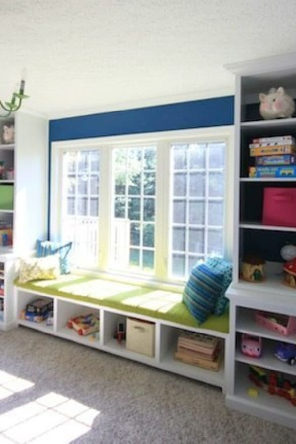 Built-in Window Seat Bench Plans