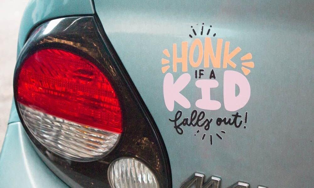 DIY Cricut Car Decals