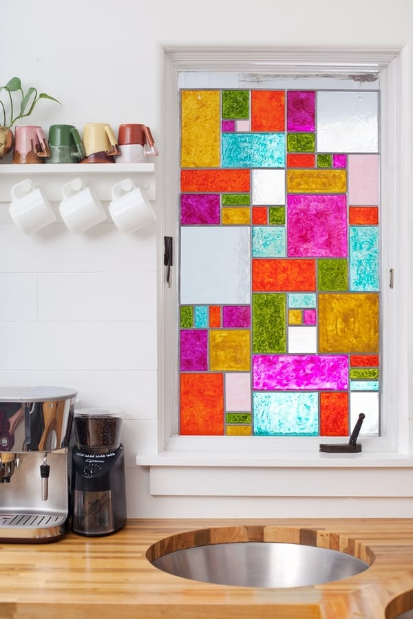 DIY Faux Stained Glass