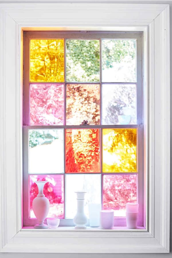 DIY Stained-Glass Windows from Four Items