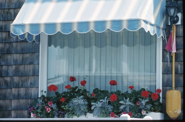 DIY stationary window awning using PVC pipe