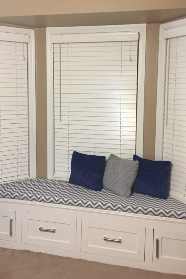DIY window seat cushion – quick and easy!