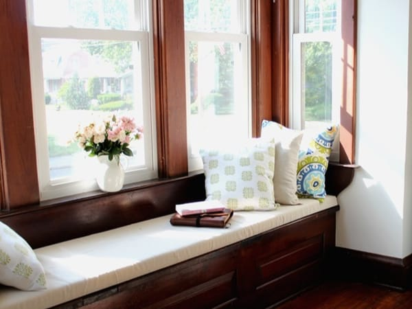 DIY window seat cushion with simple tools