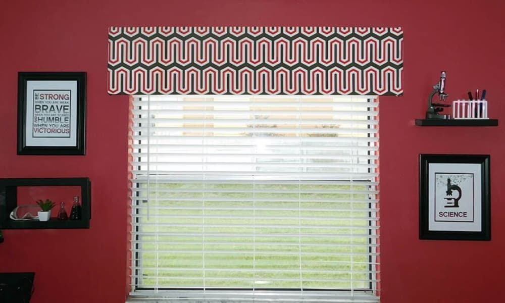DIY window valance for a polished look