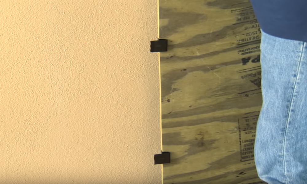 Fasten Window Clips to the Sides of the Plywood