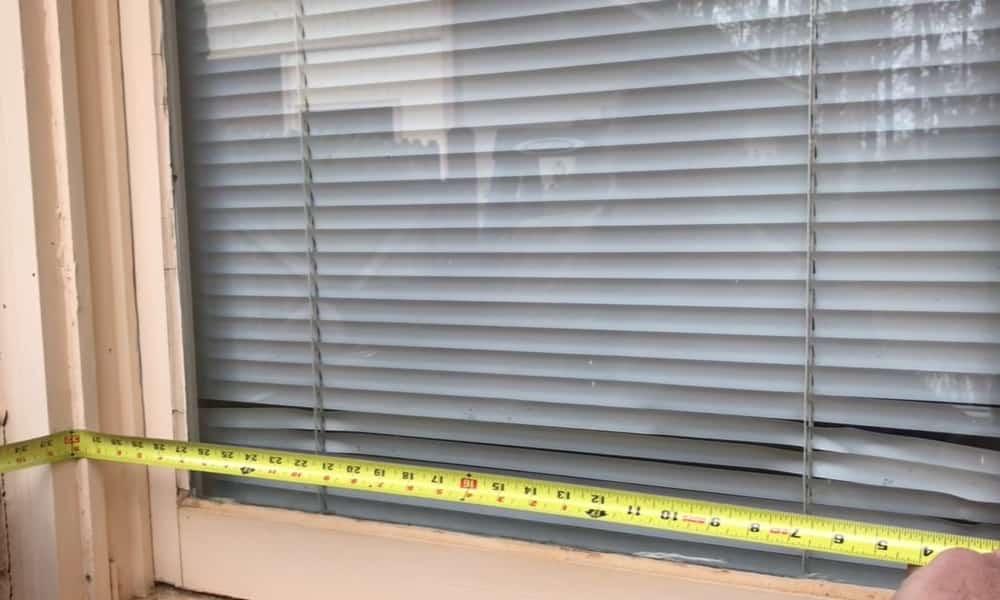 Get the correct window measurements
