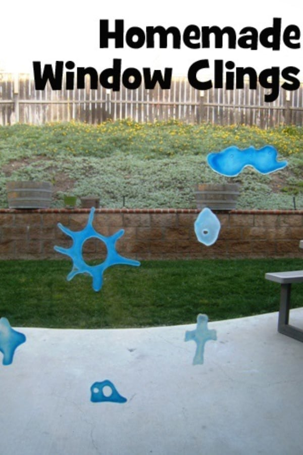Homemade window clings