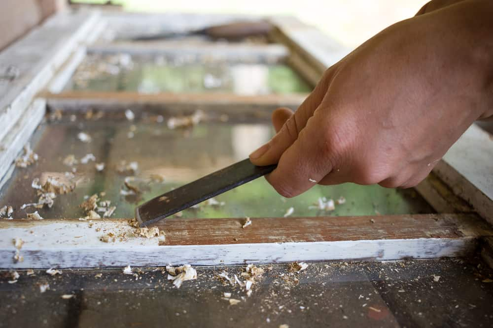 How To Remove Paint From Window Frame