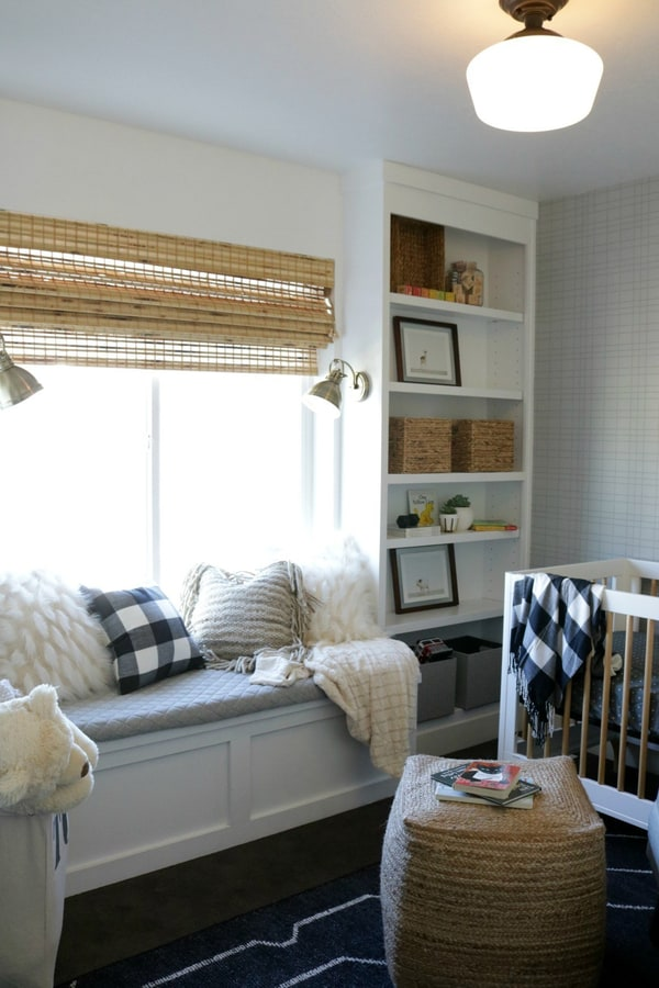How to Build a Window Seat with Built-in Bookcase Tutorial