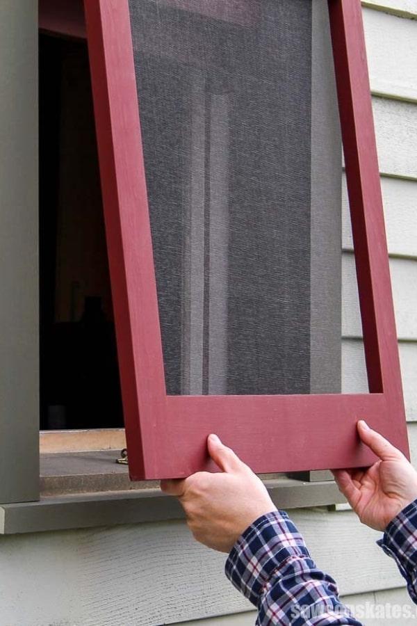 How to Make DIY Wood Window Screens