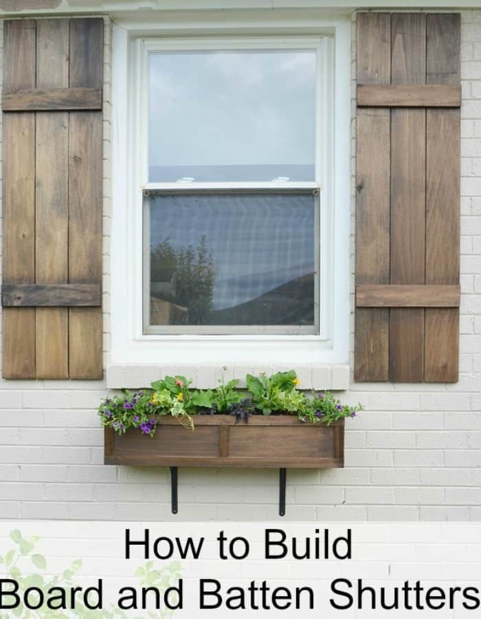 How to build board-and-batten shutters