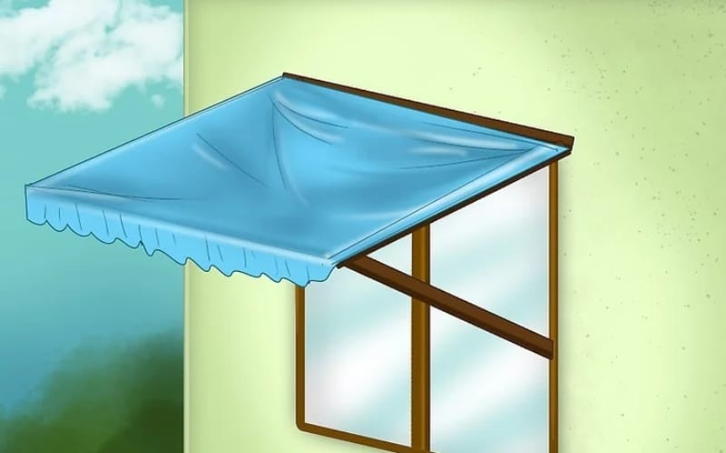 How to make a standard window awning