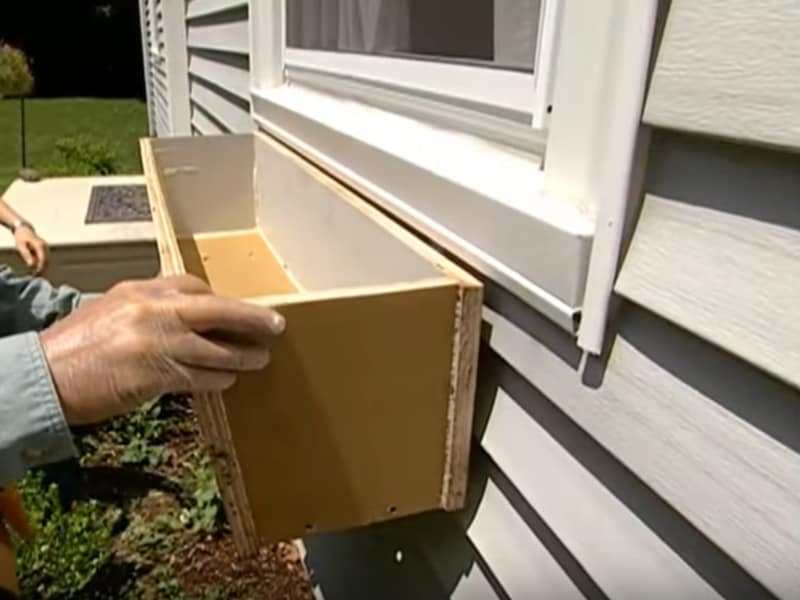 Install the Window Box on the Hanged Brackets