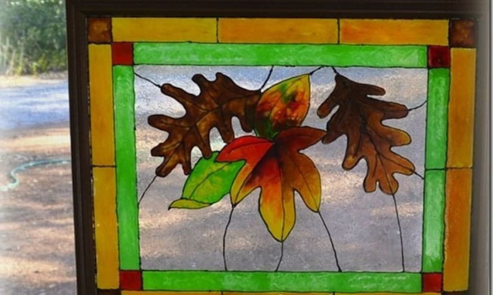 Make an Easy Faux Stained-Glass Window