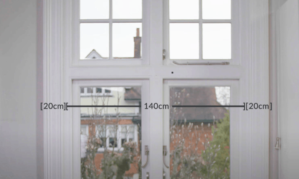 Measure the width for your curtains