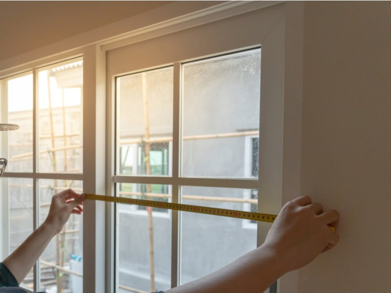 Measure the width of your window