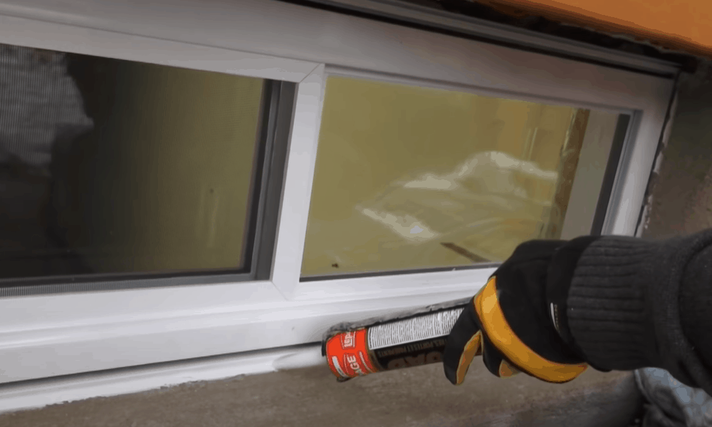 Replace the caulk around the outside of the window