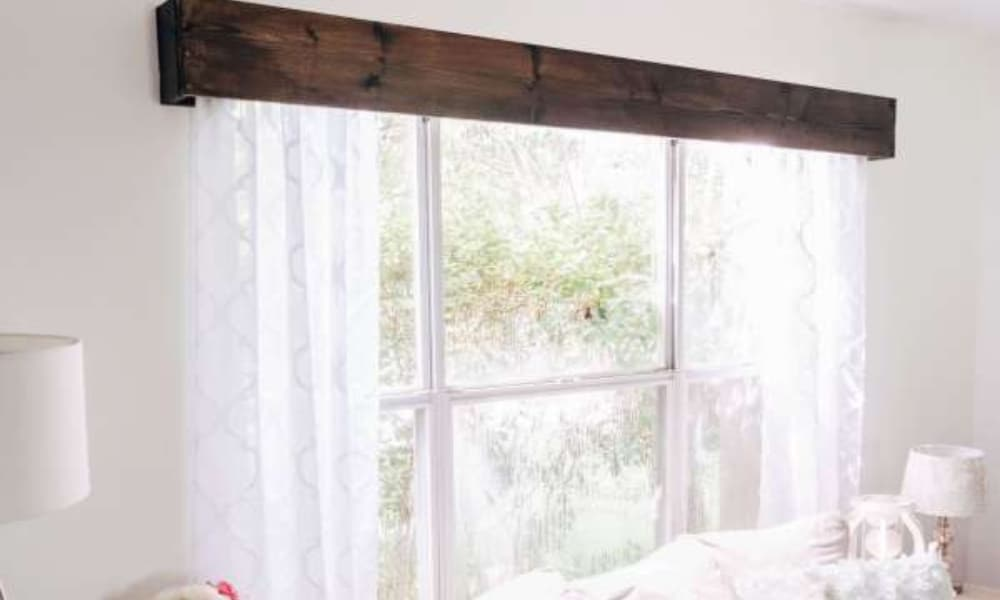 Wood window valance tutorial