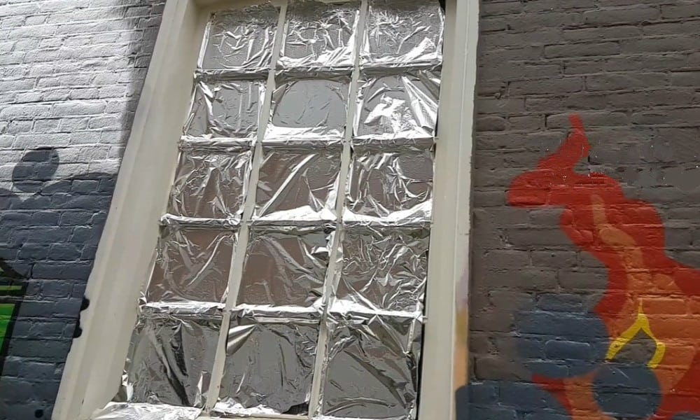 Cover Your Window in Aluminum Foil
