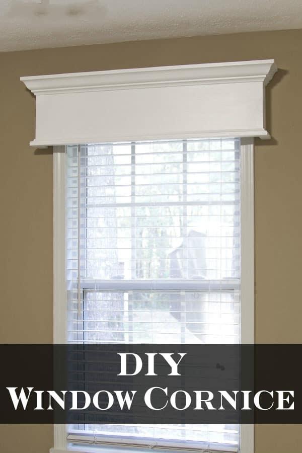 Easy DIY Window Cornice 1