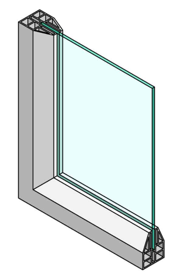 Single-pane windows