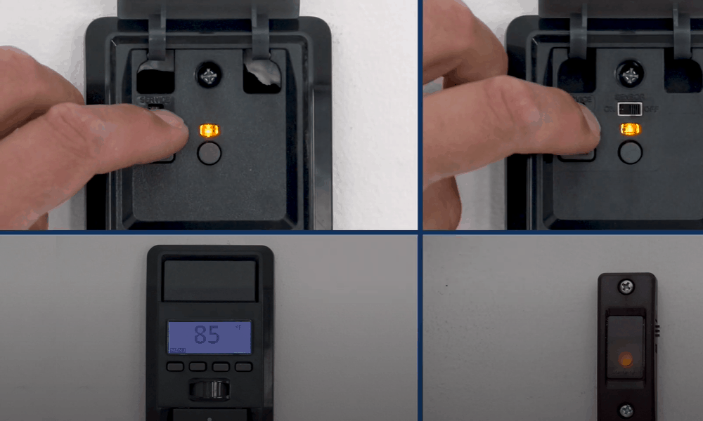 If you have a control panel, use it to program your door opener
