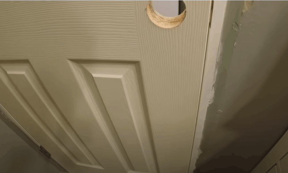 Set the door in place and test it