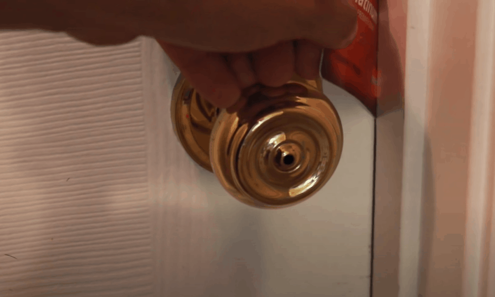 Slide The Card Between The Door And The Frame