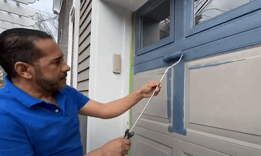 Start painting the door