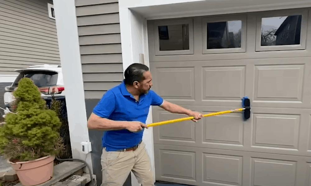 Thoroughly clean the garage door