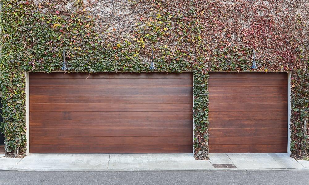 Triple car garage doors