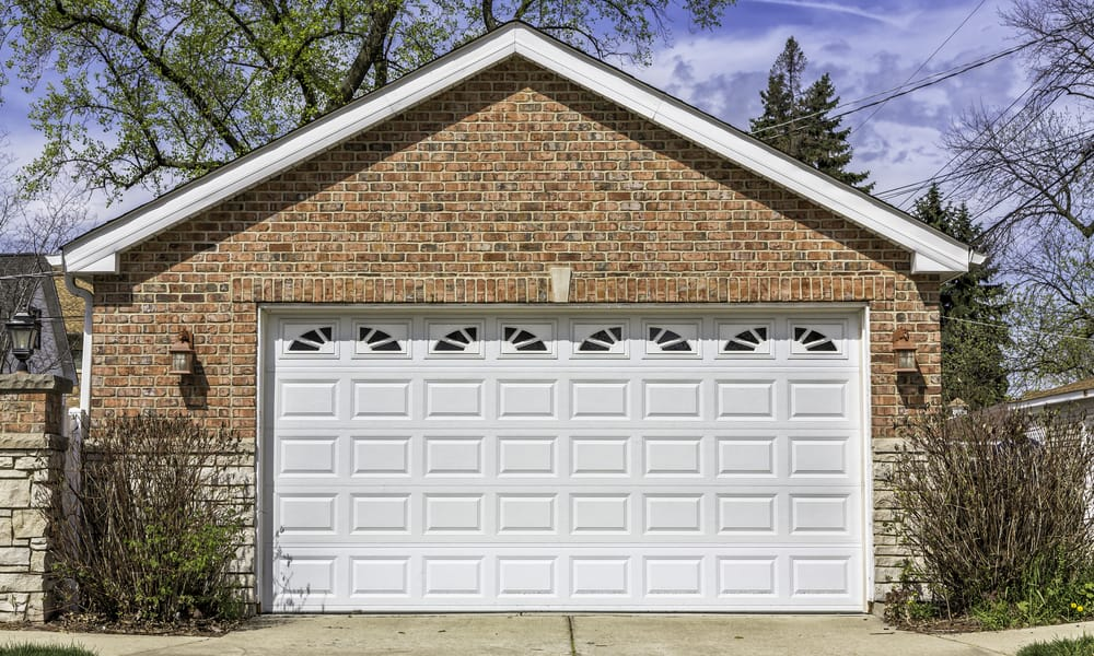 Two car garage door sizes