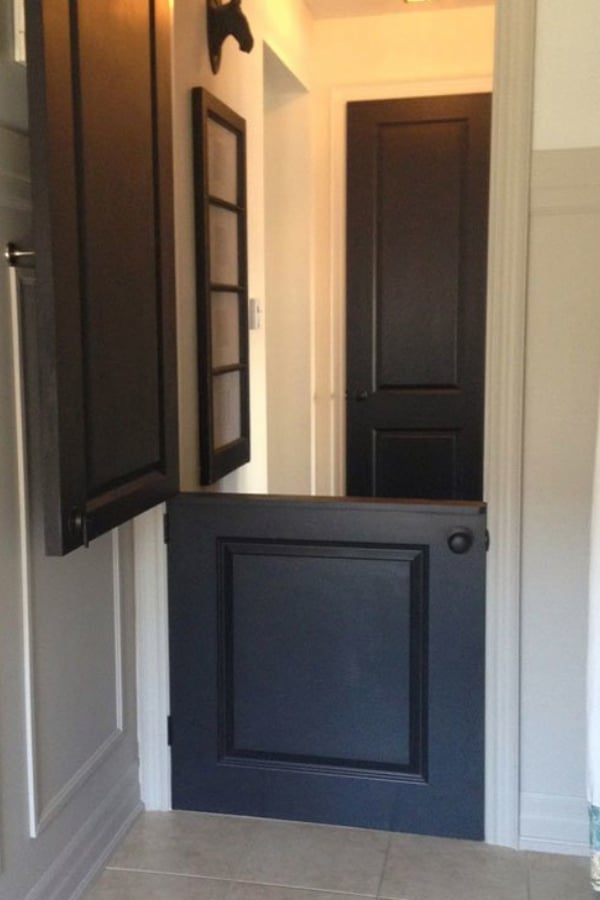 A Dutch Door DIY that Doubles as an Indoor Gate