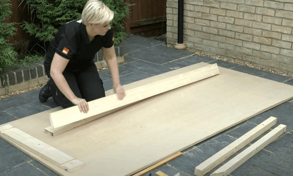 Assemble the door frame kit