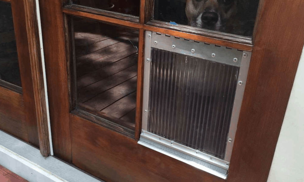 DIY Dog Door for French Door Windowpanes