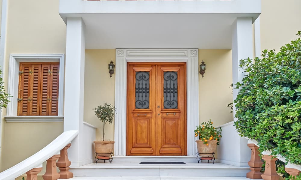 Double Entrance Door Size