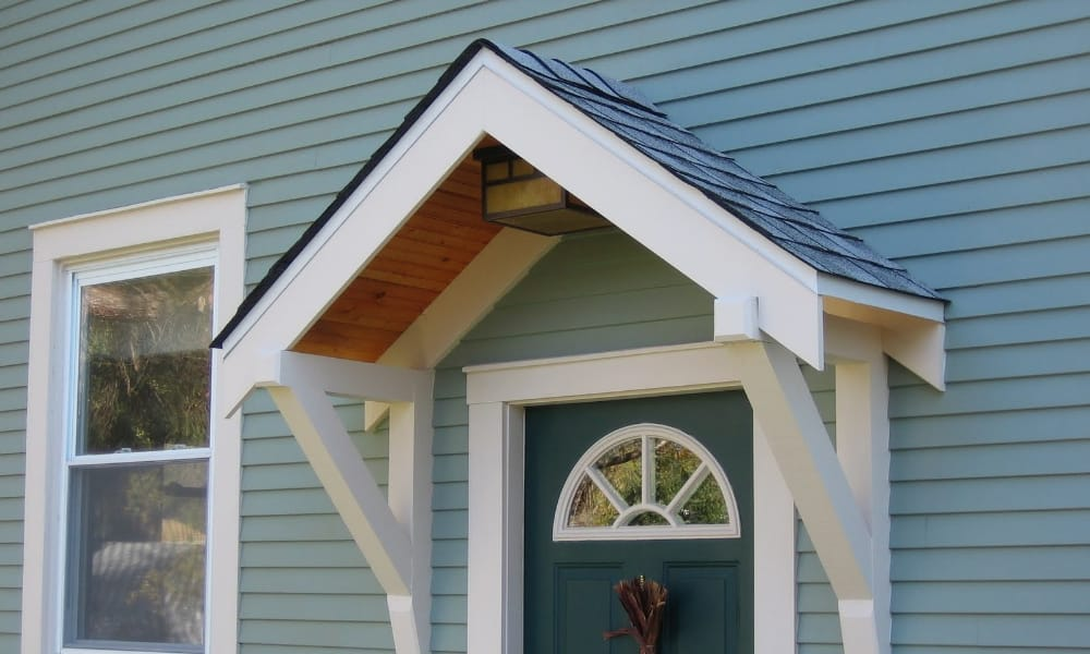 How to Build A Small Portico Above A Door