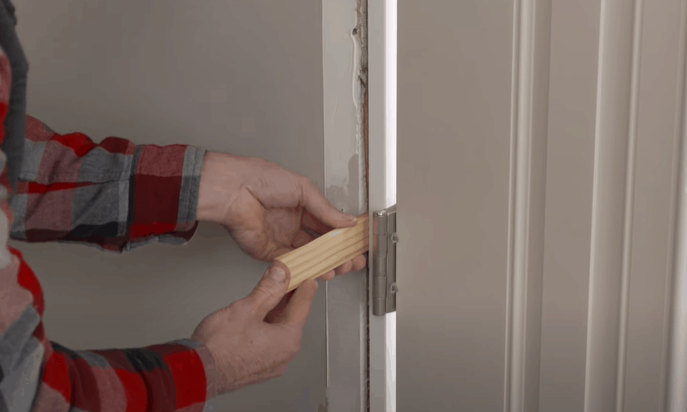 Insert shims and secure frame