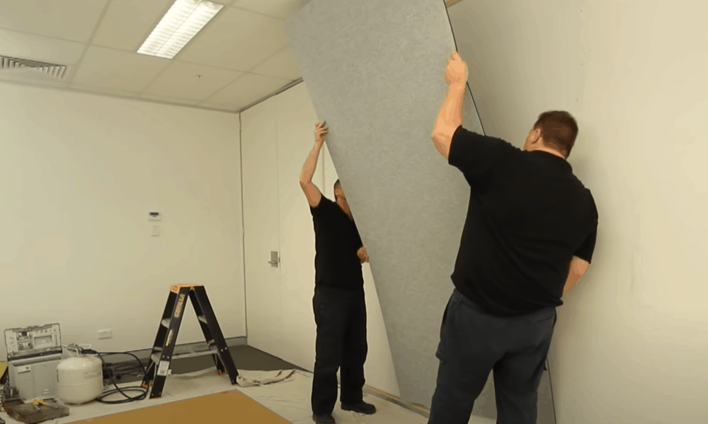 Install Acoustic Panels On The Wall