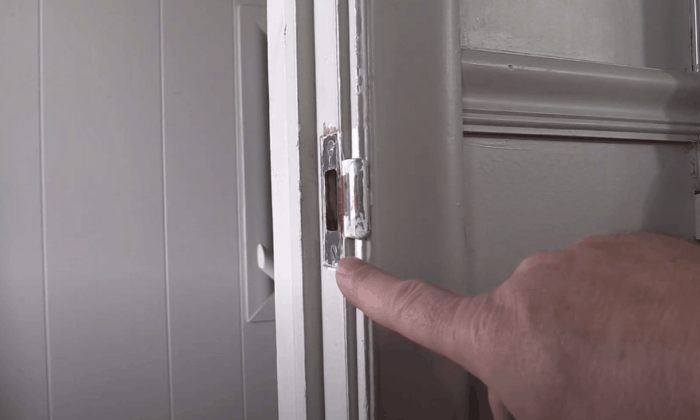 Install a new latch plate