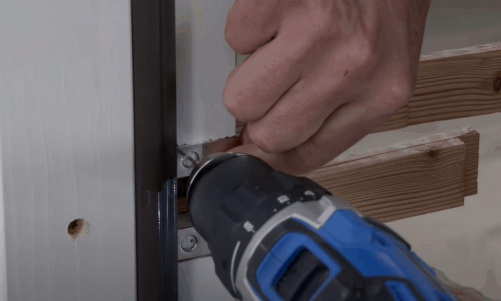 Install lock plate and deadbolt