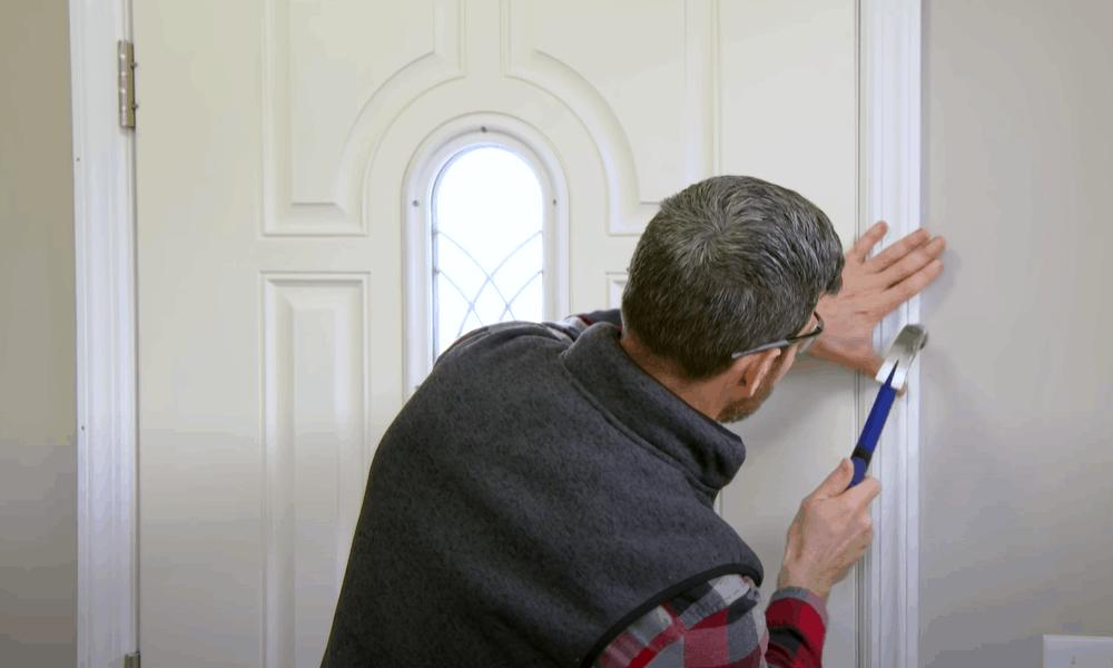Insulate the door