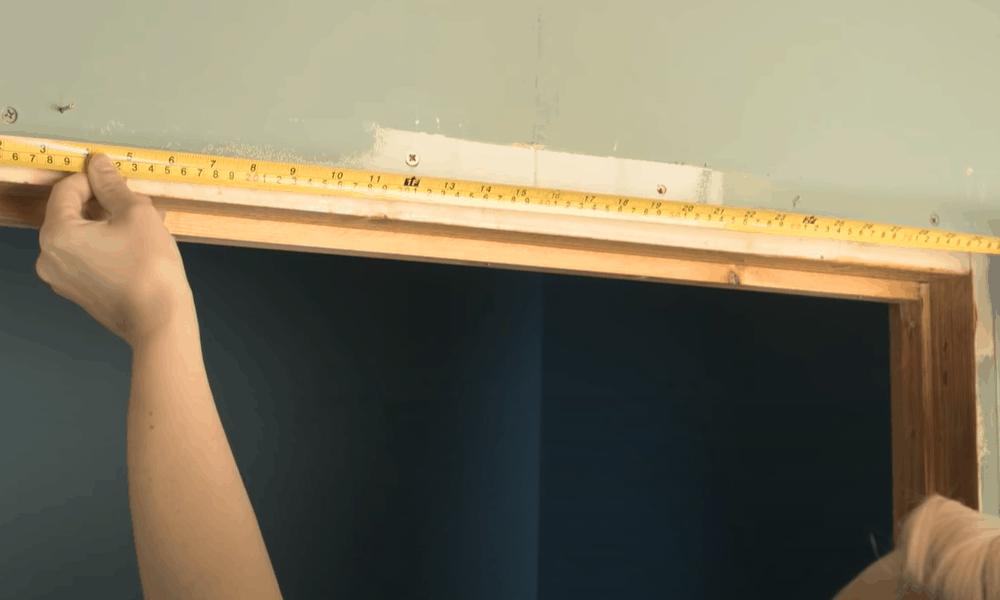 Measure the door frame