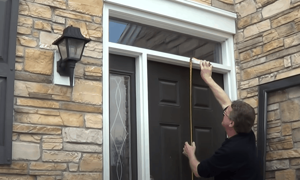 Measure the height of the door