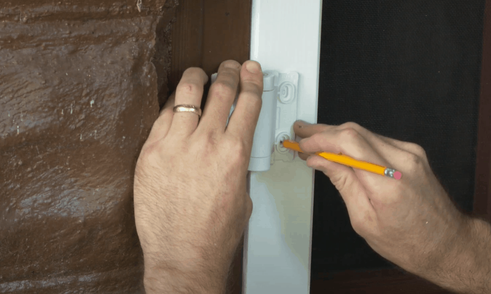 Measure the placement for hinges