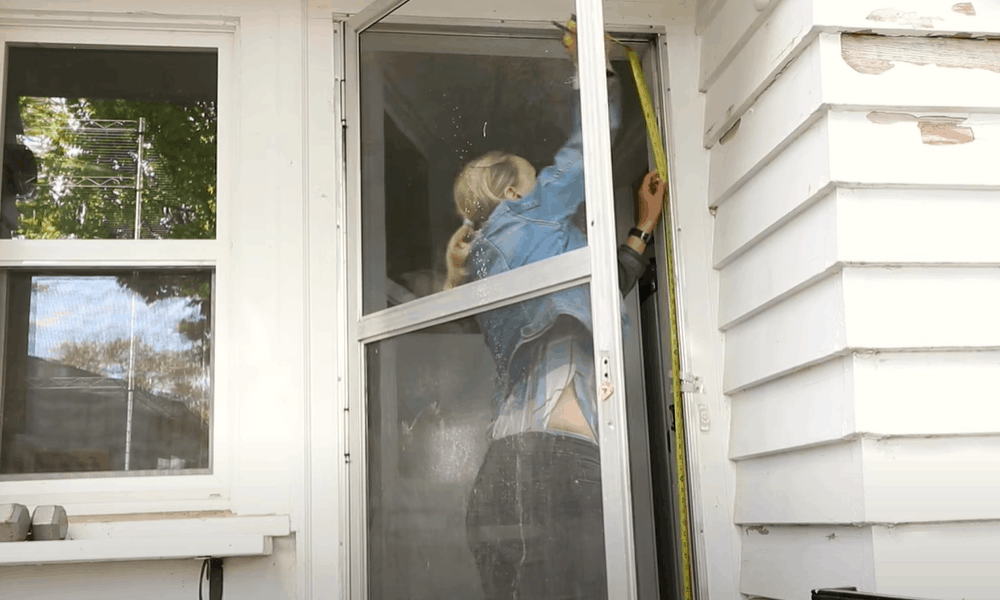 Measure the size of the outside of the door frame