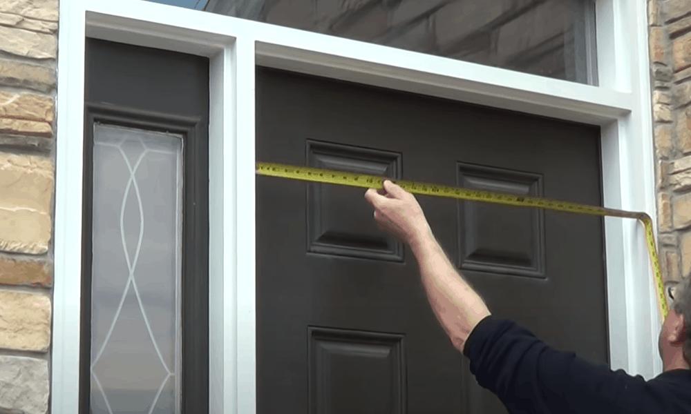 Measure the width of the door